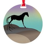 desert horse square.png Round Ornament