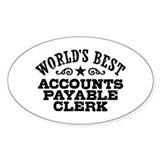 World's Best Accounts Payable Clerk Bumper Stickers