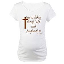 Philippians 4 13 Brown Cross Shirt