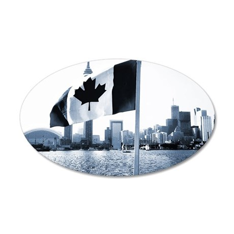 Canada 20x12 Oval Wall Decal