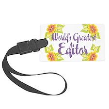 Worlds Greatest Editor Luggage Tag