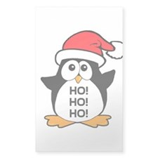 Cute Christmas Penguin Ho Ho Ho Decal