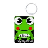 Cute Cartoon Frog Fully Rely On God F.R.O.G. Alumi