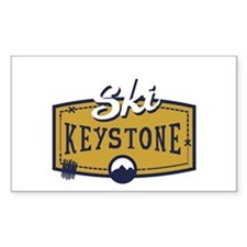 Ski Keystone Patch Bumper Stickers