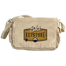 Ski Keystone Patch Messenger Bag