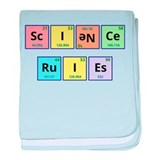 Science Rules baby blanket