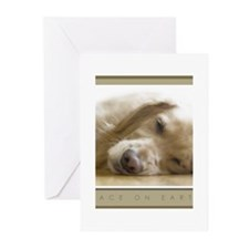 Cute Golden retriever christmas Greeting Cards (Pk of 20)