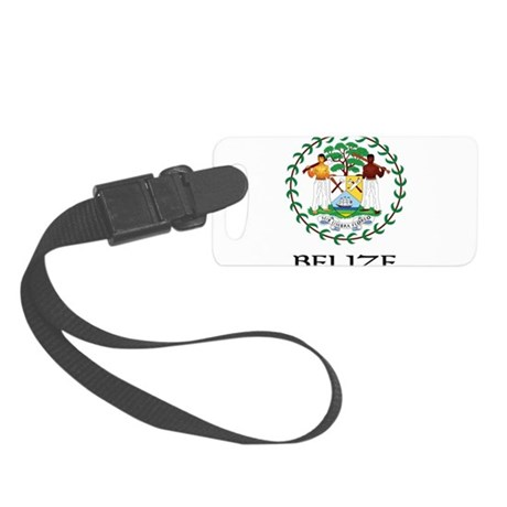Coat of arms of Belize Small Luggage Tag