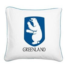 Coat of arms of Greenland Square Canvas Pillow