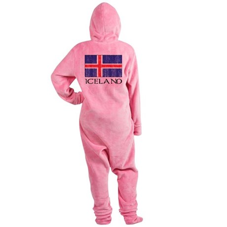 Iceland Flag Footed Pajamas