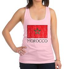 Morocco Flag Racerback Tank Top