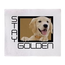 Stay Golden Throw Blanket