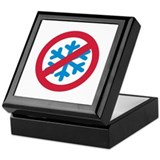 No winter snow Keepsake Box