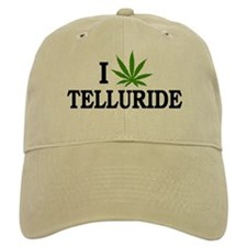 I Love Cannabis Telluride Colorado Baseball Cap