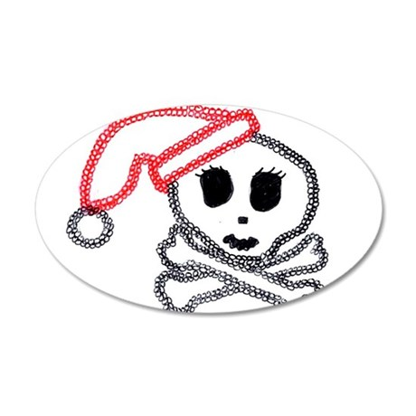 xmas pirate.jpg 35x21 Oval Wall Decal