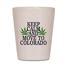 Keep Calm And Move To Colorado Shot Glass