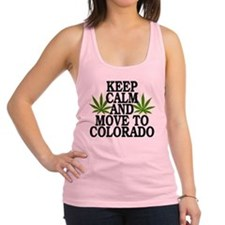 Keep Calm And Move To Colorado Racerback Tank Top