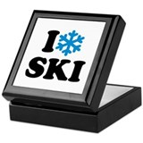 I love Ski Keepsake Box