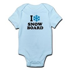 I love Snowboard Infant Bodysuit