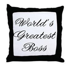 World's Greatest Boss 2 Throw Pillow