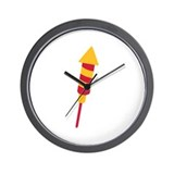 Fireworks rocket Wall Clock