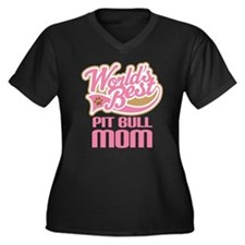 Pit Bull Mom Women's Plus Size V-Neck Dark T-Shirt
