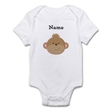 Personalized Monkey Baby Bodysuit