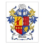 Dirom Coat of Arms Small Poster