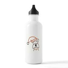 xmas dog.jpg Water Bottle