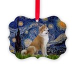 5.5x7.5-Starry-Akita3.png Picture Ornament