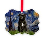 STARRY-AmericanStaffordshire Picture Ornament