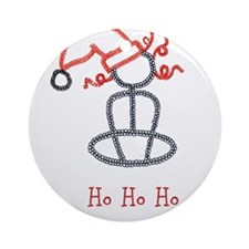 Yoga Christmas Girl Ornament (Round)
