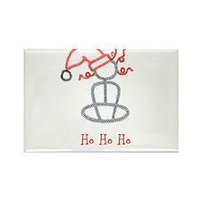 Yoga Christmas Girl Rectangle Magnet