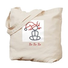 Yoga Christmas Girl Tote Bag