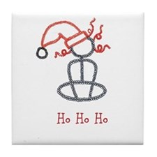 Yoga Christmas Girl Tile Coaster
