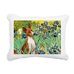TILE-Irises-Basenji.PNG Rectangular Canvas Pillow