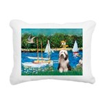 Beardie 1 - Sailboats.png Rectangular Canvas Pillo