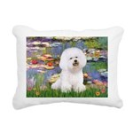 CLK-Lilies2-Bichon1.png Rectangular Canvas Pillow