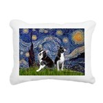 Starry Night & Bos Ter Rectangular Canvas Pillow