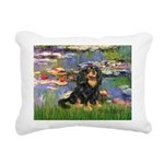 PILLOW-Lilies2-Blk-Tan.png Rectangular Canvas Pill