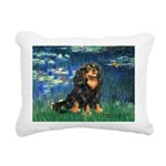 TILE-Lilies5-Cav-Blk-Tan.png Rectangular Canvas Pi