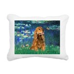MP-LILIES5-Cocker7.png Rectangular Canvas Pillow