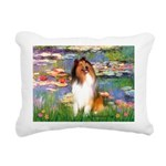 MP-Lilies2-Collie1.png Rectangular Canvas Pillow