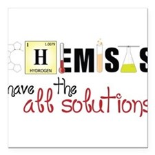"All The Solutions Square Car Magnet 3"" x 3"""