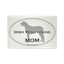 Irish Wolfhound MOM Rectangle Magnet