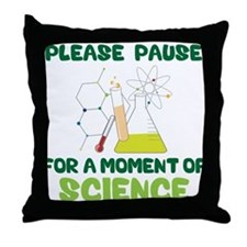 Please Pause Throw Pillow