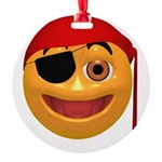 Pirate Smilie Round Ornament