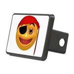 Pirate Smilie Rectangular Hitch Cover