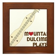 Mountain Dulcimer Player Framed Tile