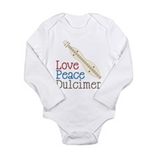Love Peace Dulcimer Long Sleeve Infant Bodysuit